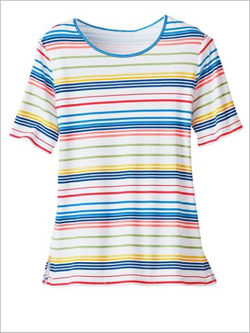 Rainbow Stripe Tee by D&D Lifestyle™ - Image 0 of 1