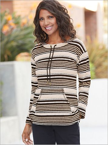 Scoop Neck Pebbled Stripe Top by Ruby Rd. - Image 0 of 2
