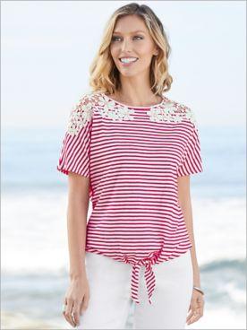 Knotical Stripe Top