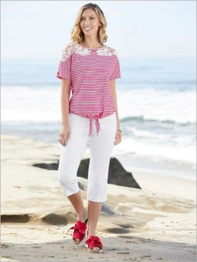 Knotical Stripe Top & Slimtacular® Capris