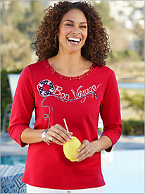 Ship Shape Bon Voyage Knit Top by Alfred Dunner