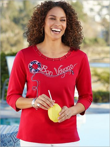 Ship Shape Bon Voyage Knit Top by Alfred Dunner - Image 2 of 2