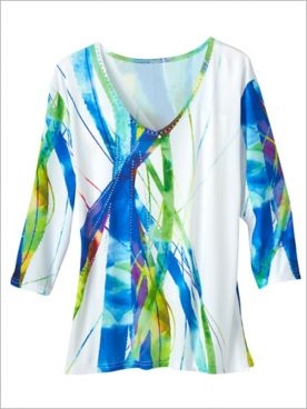 Ray Of Light Print Top
