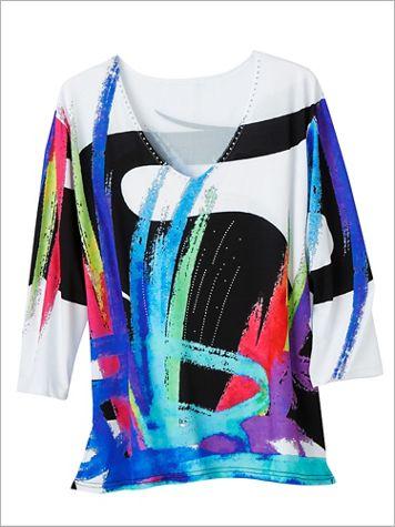 Splash Of Color Print Top - Image 2 of 2