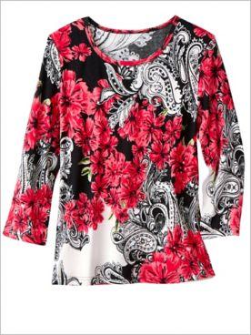 Floral Paisley Print Top