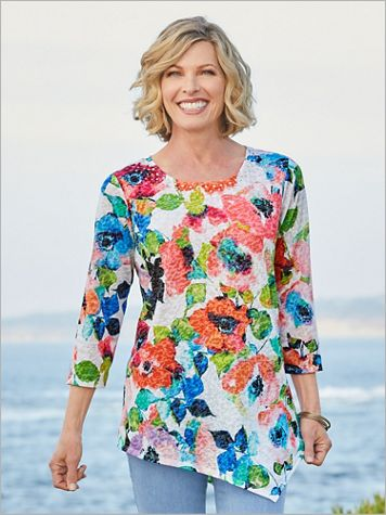 Geranium Floral Knit Tunic by Ruby Rd. - Image 2 of 2