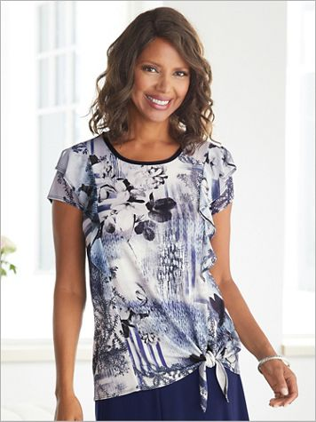 Spring Ahead Print Top by Picadilly - Image 3 of 3