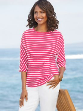 Sail Away Stripe Boatneck
