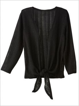 Tie Front Knit Shrug by Ruby Rd.