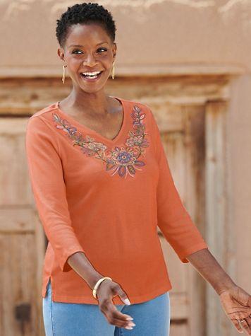 Embroidered Yoke Tee - Image 2 of 2