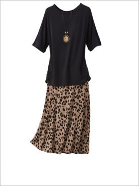 Premium Knit Dolman Top & Animal Instinct Knit Skirt