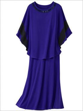 Premium Knit Poncho & Premium Skirt