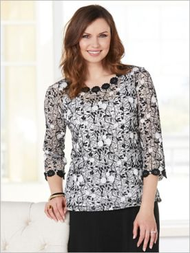 Scattered Floral Top