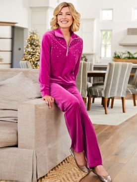 Starlight Sparkle Half Zip Polo & Velour Pants by D&D Lifestyle™