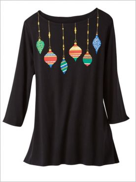 Ornamental Necklace Print Knit Top