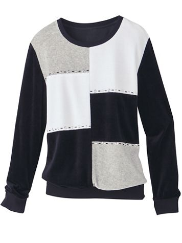 Velour Colorblock Top by Alfred Dunner - Image 2 of 2