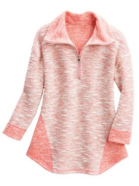 Marled 1/2 Zip Pullover