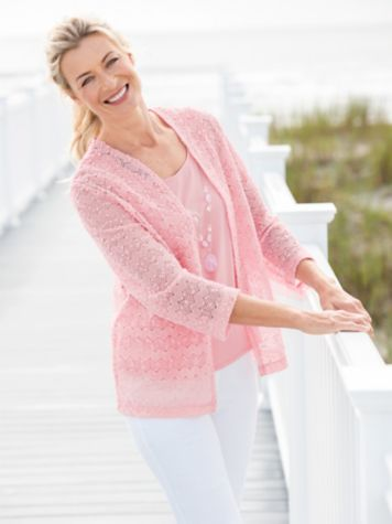 Classic Popcorn Knit Two-Fer & Slimtacular® Pants