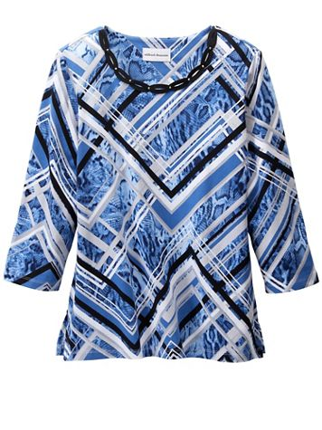 Alfred Dunner Animal Patchwork Short Sleeve Tee - Image 2 of 2
