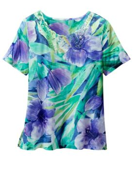 Alfred Dunner Tropical Tee
