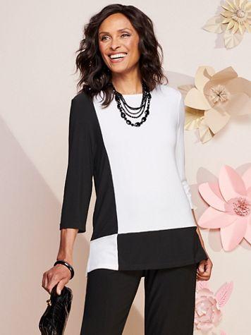 Mondrian Knit 3/4 Sleeve Tunic - Image 2 of 2