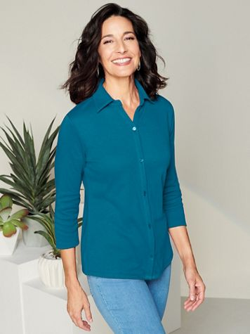 Essential Button Front Shirt - Image 1 of 9