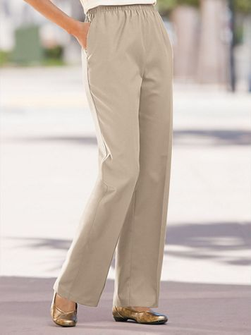 Classic Comfort® Straight Leg Pull-On Pants - Image 1 of 19