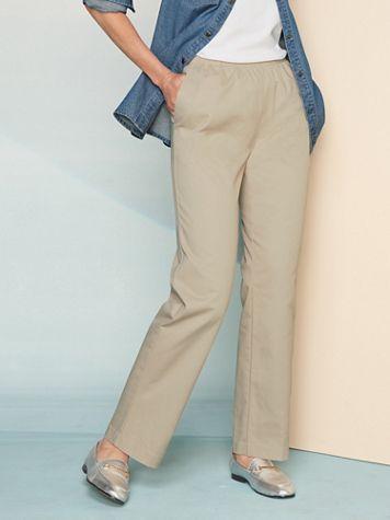 Classic Comfort® Straight Leg Pull-On Pants - Image 1 of 15