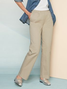 Classic Comfort® Straight Leg Pull-On Pants