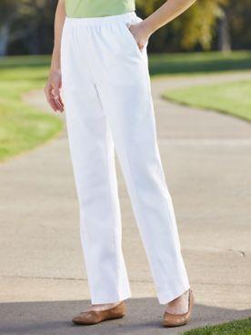 Classic Comfort® Straight Leg Pull-On Pants