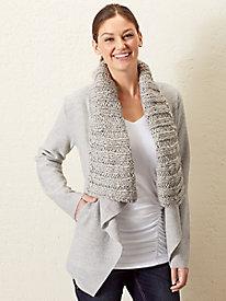 Boiled-Wool Shawl Jacket