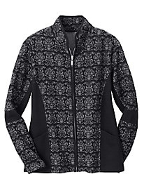 Knit Jacquard Zip Jacket