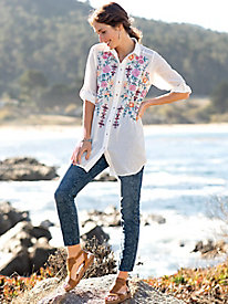 JAG Nora Skinny Jean With Laser Print