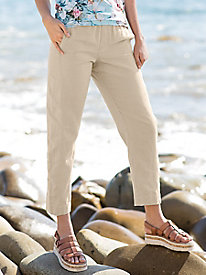 Linen Cotton Ankle Pants