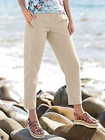 Linen Cotton Ankle Pants