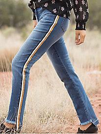 Tru Luxe Varsity Stripe Skinny Jeans
