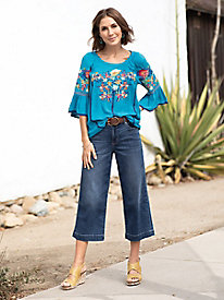 JAG Jeans Lydia Wide Leg Crops