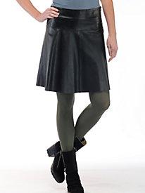 Women's Leather Swing Skirt