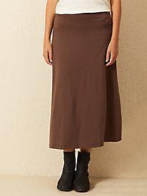 Bella Coola Solid Knit Midi Skirt