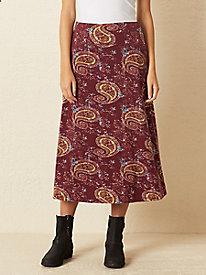 Bella Coola Print Knit Midi Skirt
