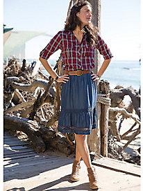 Indigo Skirt With Lace