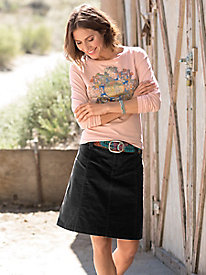 Cascade Corduroy Skirt