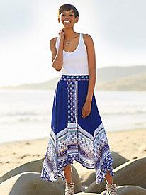 The Blue Handkerchief Skirt