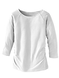 Waist Not Ruched 3/4 Sleeve Top