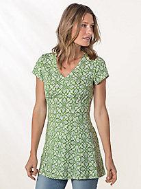 Bella Coola Cap Sleeve Print Tunic