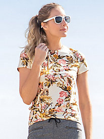 Tropical Print Short Sleeve Tee