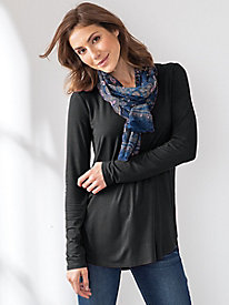 Scoop Neck Shirttail Hem Tunic
