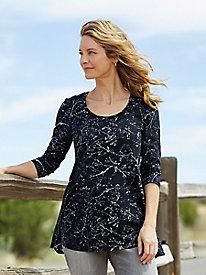 Bella Coola Print 3/4 Sleeve Tunic