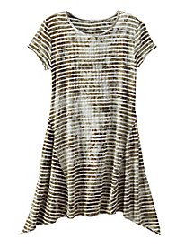 A Line Stripe Tunic