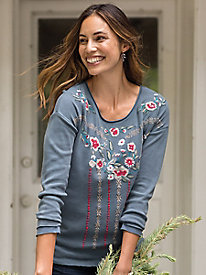 Embroidered Thermal Top